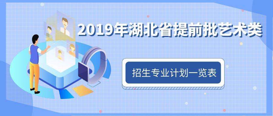 2019年湖北省提前批艺术类招生专业计划一览表