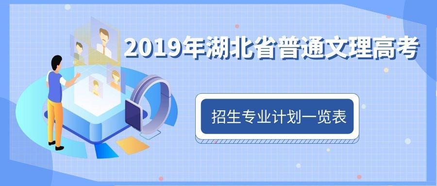 2019年湖北省普通文理高考招生专业计划一览表